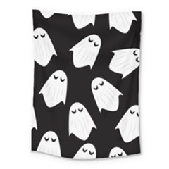 Ghost Halloween Pattern Medium Tapestry by Amaryn4rt