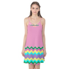 Easter Chevron Pattern Stripes Camis Nightgown by Amaryn4rt