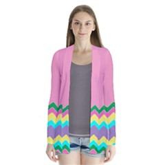 Easter Chevron Pattern Stripes Cardigans by Amaryn4rt