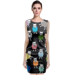 Sheep Cartoon Colorful Classic Sleeveless Midi Dress by Amaryn4rt