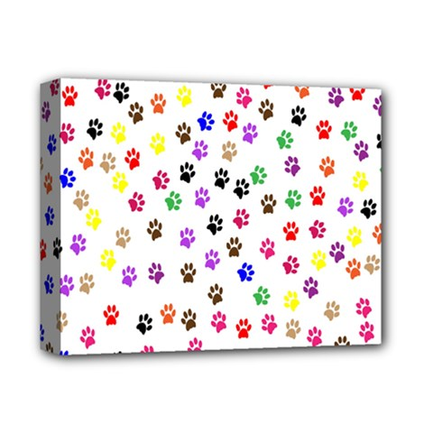 Paw Prints Background Deluxe Canvas 14  X 11  by Amaryn4rt