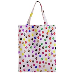 Paw Prints Background Zipper Classic Tote Bag by Amaryn4rt