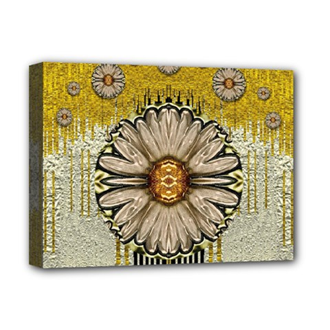 Power To The Big Flower Deluxe Canvas 16  X 12   by pepitasart