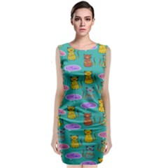 Meow Cat Pattern Classic Sleeveless Midi Dress by Amaryn4rt