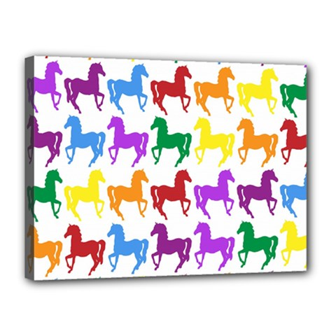 Colorful Horse Background Wallpaper Canvas 16  X 12  by Amaryn4rt