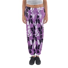 Floral Pattern Background Women s Jogger Sweatpants by Amaryn4rt