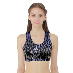 Fabric Animal Motifs Sports Bra With Border