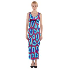 Animal Tissue Fitted Maxi Dress by Amaryn4rt