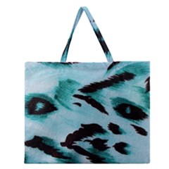 Animal Cruelty Pattern Zipper Large Tote Bag by Amaryn4rt