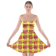 Funny Faces Strapless Bra Top Dress