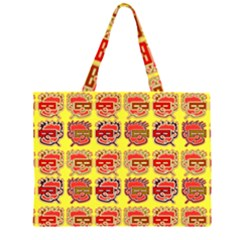 Funny Faces Zipper Large Tote Bag by Amaryn4rt