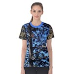 Trees against a blue sky with critters Women s Cotton Tee