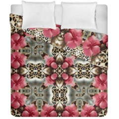 Flowers Fabric Duvet Cover Double Side (california King Size) by Amaryn4rt