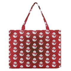 Card Cartoon Christmas Cold Medium Zipper Tote Bag
