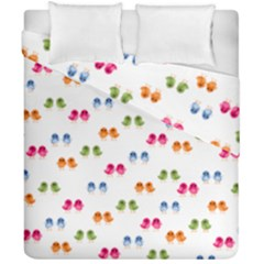 Pattern Birds Cute Design Nature Duvet Cover Double Side (california King Size) by Amaryn4rt