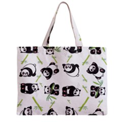 Panda Tile Cute Pattern Zipper Mini Tote Bag