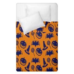Witch Hat Pumpkin Candy Helloween Blue Orange Duvet Cover Double Side (single Size) by Alisyart