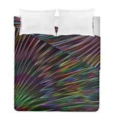 Texture Colorful Abstract Pattern Duvet Cover Double Side (full/ Double Size)