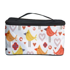 Animal Pattern Happy Birds Seamless Pattern Cosmetic Storage Case by Amaryn4rt