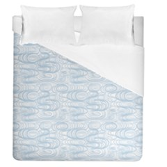 Wind Waves Grey Duvet Cover (Queen Size) by Alisyart