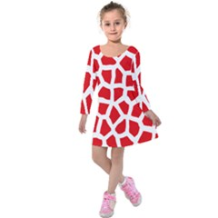 Animal Animalistic Pattern Kids  Long Sleeve Velvet Dress