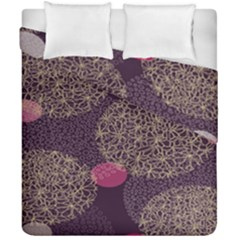 Twig Surface Design Purple Pink Gold Circle Duvet Cover Double Side (california King Size) by Alisyart