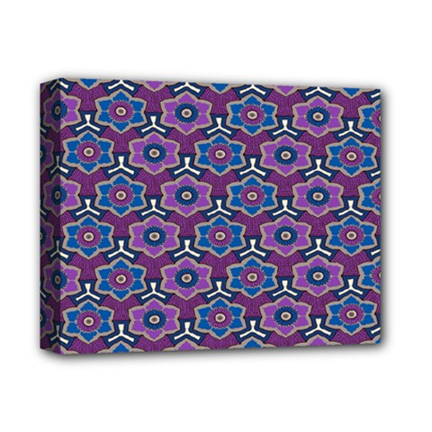 African Fabric Flower Purple Deluxe Canvas 14  X 11  by Alisyart