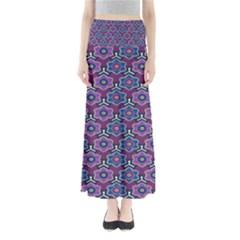 African Fabric Flower Purple Maxi Skirts by Alisyart