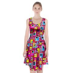 File Digital Disc Red Yellow Rainbow Racerback Midi Dress by Alisyart
