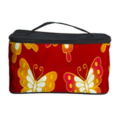 Butterfly Gold Red Yellow Animals Fly Cosmetic Storage Case by Alisyart