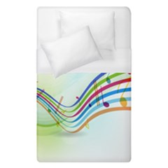 Color Musical Note Waves Duvet Cover (single Size) by Alisyart