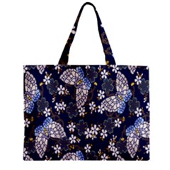 Butterfly Iron Chains Blue Purple Animals White Fly Floral Flower Zipper Mini Tote Bag by Alisyart