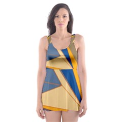 Abstract Background Pattern Skater Dress Swimsuit