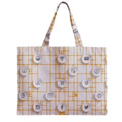 Icon Media Social Network Zipper Mini Tote Bag by Amaryn4rt
