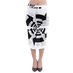 Arrows Top Below Circuit Parts Midi Pencil Skirt by Amaryn4rt