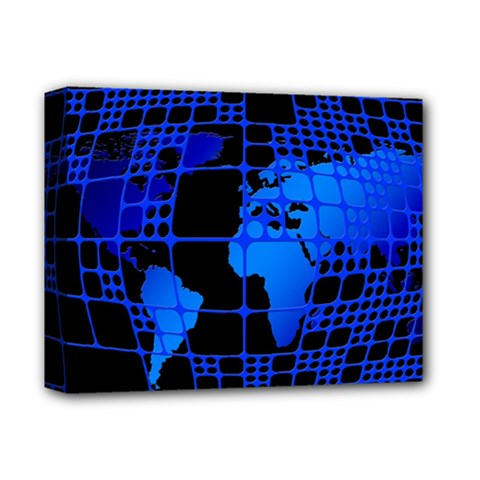 Network Networking Europe Asia Deluxe Canvas 14  X 11  by Amaryn4rt