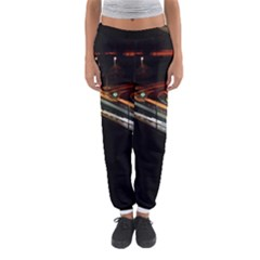 Highway Night Lighthouse Car Fast Women s Jogger Sweatpants by Amaryn4rt