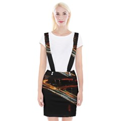 Highway Night Lighthouse Car Fast Suspender Skirt by Amaryn4rt