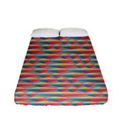 Background Abstract Colorful Fitted Sheet (full/ Double Size) by Amaryn4rt