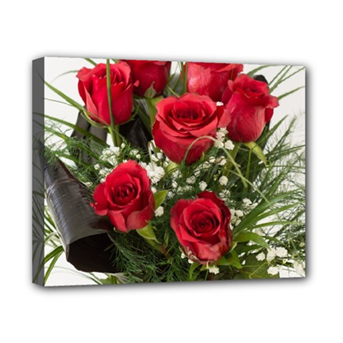 Red Roses Roses Red Flower Love Canvas 10  X 8  by Amaryn4rt
