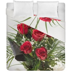 Red Roses Roses Red Flower Love Duvet Cover Double Side (california King Size) by Amaryn4rt