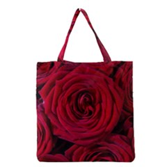 Roses Flowers Red Forest Bloom Grocery Tote Bag