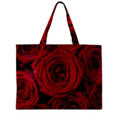 Roses Flowers Red Forest Bloom Zipper Mini Tote Bag by Amaryn4rt