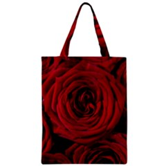 Roses Flowers Red Forest Bloom Zipper Classic Tote Bag by Amaryn4rt