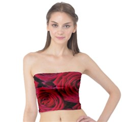 Roses Flowers Red Forest Bloom Tube Top
