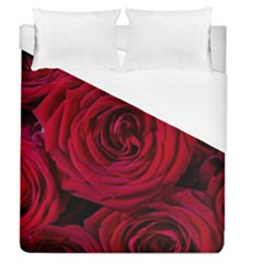 Roses Flowers Red Forest Bloom Duvet Cover (Queen Size)