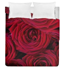Roses Flowers Red Forest Bloom Duvet Cover Double Side (queen Size) by Amaryn4rt