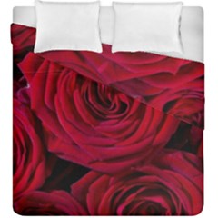 Roses Flowers Red Forest Bloom Duvet Cover Double Side (king Size) by Amaryn4rt