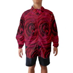 Roses Flowers Red Forest Bloom Wind Breaker (kids) by Amaryn4rt