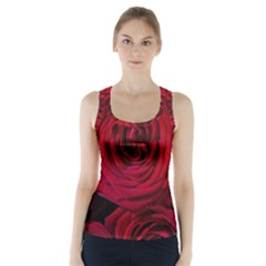 Roses Flowers Red Forest Bloom Racer Back Sports Top